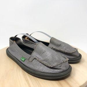 Sanuk Women's Size 10 Silver Sidewalk Surfers L15